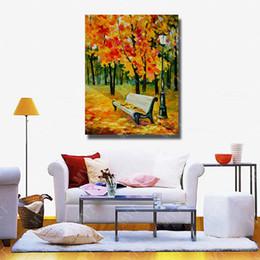 Grandi quadri ad albero online-Grandi dipinti su tela Albero Paesaggio parete Immagine per soggiorno Decor Wall Art Tela moderna pittura a olio Senza cornice