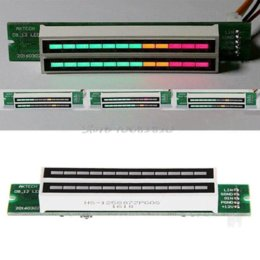 Wholesale Led Vu - Adjustable Light Dual 12 Stereo Level indicator LED VU Meter lamps Speed Board -R179 Drop Shipping