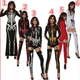2019 vampire 2016 Sexy Halloween Dreadful Mummy Demon squelette costumes Horriable crâne Teddies Costume boule Bodysuits Vampire Costumes Masque Cosplay vampire pas cher