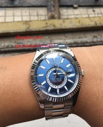 Wholesale Stainless Steel Watch Rings - The latest version AAA brands Wristwatch Sapphire Automatic 42mm White watch ring 326934 Blue dial Mens Men's top brand Watch Watches