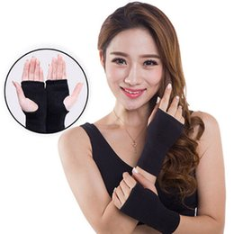 Wholesale Infrared Gloves - Elastic Far Infrared Wrist Brace Wrist Support Band Belt Health Care Joint Care Fingerless Gloves Braces