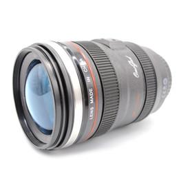 Wholesale Thermal Lens Mug - Hot 5Generation stainless steel liner travel thermal Coffee camera lens mug cup 400ML Black 120pcs
