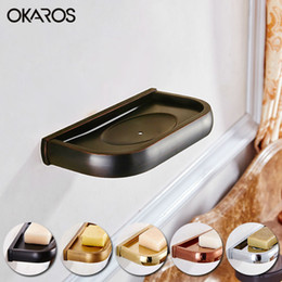 Wholesale Bathroom Wall Soap Dispenser - Wall Mounted Soap Dish Holder Solid Brass Soap Dispenser Copper Chrome  Gold  Rose Golden  Antique  Black Bathroom Accessories