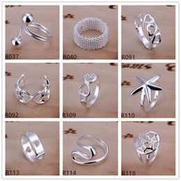 Wholesale China Factory Wholesales - Brand new high grade sterling silver ring 10 pieces mixed style,925 silver ring GTR3 factory direct sale