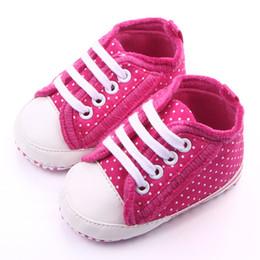 Wholesale Fancy Fabrics - Beautiful Dot Design Fancy Rose Baby Shoes for Girl Leather's Toe Cap White Lace-up Soft Sole Anti-slip Infant Shoes Wholesale