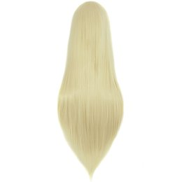 Wholesale Womens Costumes Small - wig platinum MapofBeauty long straight womens cosplay wigs blonde Ladies 80cm 32inch Costume Party Heat Resistant Synthetic Hair