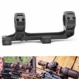 2019 montaje de rifle Tactical GE Automatics AR15 Montura de alcance para vista óptica Montura de 25,4 mm / 30 mm Anillos de montaje en rifle SIN nivel de burbuja para riel de 20 mm rebajas montaje de rifle
