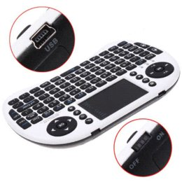 Wholesale Hot Rii - Hot Rii i8 Mini Portable 2.4GHz Wireless Keyboard Mouse Combo with Touchpad remote control mouse deal