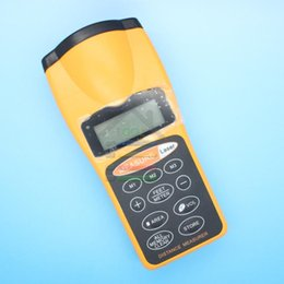 Wholesale New Ship Construction - Free shipping New Handheld LCD Ultrasonic Laser Pointer + Distance Measurer 18 Meter Range For Construction Building order<$18no track