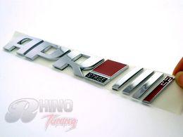 Wholesale Car Body Stripes - APR Lettering Car Tailgate Side Stripe Emblem Sticker Chrome Badge Sticker for TT TTS TT RS Leon TT TTS TT RS 725