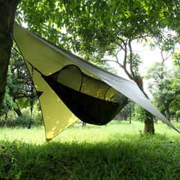 Wholesale Outdoor Canvas Camping Tents - Air Tent Simple Automatic Opening Tent 2 Person Easy Carry Quick Hammock with Bed Nets Rainproof backdrop Summer Outdoors Fast Shipping