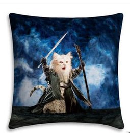 Wholesale Cat Linen - Free Shipping Wholesale 100% New Cotton Linen Modern Cartoon Cats Cushion Pillow on sofa for home decoration hight quality free shipping