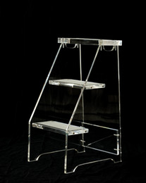 Wholesale Stool Plastic - Clear Lucite 3 Level Step Ladder Stool transparent acrylic Staircase chair
