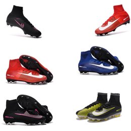 Wholesale China Soccer Cleats - 2016 NEW100% Original Mercurial Superfly V Red Soccer shoes Wholasale football Shoes ACC Soccer cleats mens sports shoes china free shiping