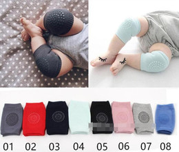 Wholesale short legging kids summer - 5 colors Baby Crawling knee pads Kids Kneecaps Cartoon Safety Cotton Baby Knee Pads Protector Children Short Kneepad Baby Leg Warmers