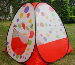 Wholesale Toy Pop Up Tent - Free Shipping Children Kids Play Tents Outdoor Garden Folding Portable Toy Tent Indoor&Outdoor Pop Up Multicolor Independent House