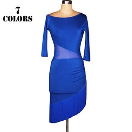 Wholesale Latin Salsa Ballroom Dress - 2017 Women Latin Dress for Ballroom Dancing Latin Jurk Clothes for Salsa Rumba Tenue Danse Adulte Grande Taille CAD191