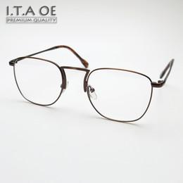 Malas aleaciones online-Al por mayor- ITAOE Walter White Llanta completa Rompiendo estilo malo Aleación Unisex Hombres Mujeres Miopía Leer marcos de gafas ópticas Gafas Gafas
