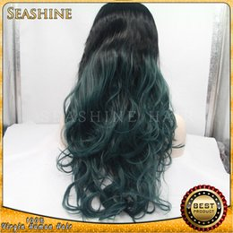 Wholesale Malaysian Wigs China - 2016 Hot style Brazilian human hair ombre loose wave lace front wigs golden supplier from China
