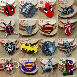 Wholesale America Pack - Retail Pack Superhero Avengers Iron Man Captain America spiderman deadpool mask Rolling Stones Zelda Key Chain keyrings Autobot key rings
