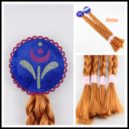 Wholesale Sales Role Play - Hot Sale Fashion Wig Cosplay Wigs Braid Frozen Wigs Elsa Wigs and Anna for Children Role Play B0328