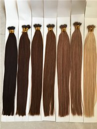 Wholesale Nano Ring Hair Extension - Fast Shipping 100strand pack Micro Nano Ring Hair Extensions 22inch $35 Cheap Price Brazilian Straight High Quality Nano Bead Hair Extension