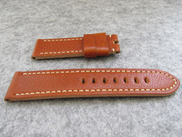 Wholesale Cow Leather Watches - top grade high quality 24mm size soft cowhide genuine cow leather watch strap band bracelet accessories for pam watch pam111 etc.models