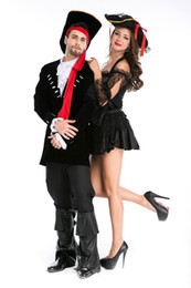 Wholesale Prince Adult Costume - Deluxe sexy Adult Pirate Prince Princess Halloween party Cosplay Fancy Dress Costume 8772 S-L