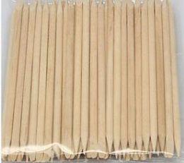 Palitos de naranja online-Nail Art Orange Wood Stick Removedor de la empuñadura de la cutícula 100 unids / set Nail Art Tools Accessories