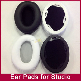 Wholesale Pad Ear - Ear pads earpad cushion foam pad cover repalacement for MP3 4 player Studio1.0 V1.0 cushions studio1.0 wireless headphones Black White color