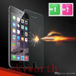 Wholesale Iphone 5g Screen Protector - iphone 6S 4.7 6 plus 5S 5G Tempered Glass Screen Protector Guard firm 0.26mm 0.33mm Premium 2000pcs