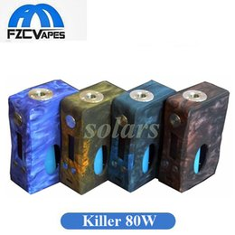 Wholesale Variable Wattage Box Mods - Authentic Aleader Killer 80W Full Resin Squonk Mod with 7ml Squonk Bottle Single 18650 Variable Wattage Vape Box Mod 100% Original