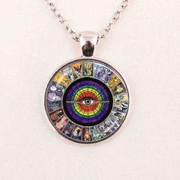 Wholesale Crystal Rhinestone Jewellery - Triple Moon Goddess pendant Wiccan jewelry Moon Goddess necklace witch necklaces glass dome choker necklace moon jewellery