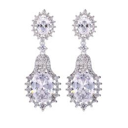 Wholesale Royal Vintage Earrings - Earrings,LUXURY Royal style jewelry AAA CZ ZIRON vintage earring,brinco franja Jewelry For Women gift PARTY WEDDING earring 0210