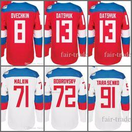 Wholesale Russia Hockey - Russia WCH Jersey 2016 World Cup Ice Hockey Jerseys Russian 8 Ovechkin 13 Datsyuk 72 Panarin 41 Kulemin 72 Bobrovsky 91 Tarasenko 1 Varlamov