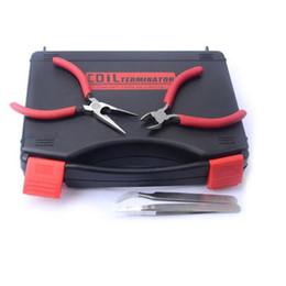 Trousse à outils rta en Ligne-Kit d'outils de terminaison de bobine professionnelle bricolage accessoires de cigarette électronique kit d'outils pour RDA RTA RTA RDTA Atomiseur Coil Terminator kit