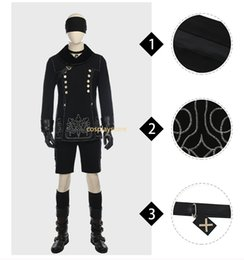 Wholesale Type Male Costumes - YoRHa No.9 Type S Costume NieR:Automata 9S Cosplay Outfit Halloween Carnival Costume Black Game Suit Custom Made