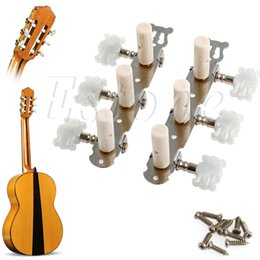 Wholesale Tuning Pegs For Guitar - Wholesale- B39 New 1 pair Guitar Tuning Pegs Machine Tuners White Machine Head for Classic Guitar