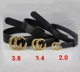 Wholesale Boxing Novelties - Hot 2017 High quality brand double chain buckle leather designer belts European style brand belt business casual men belts with box