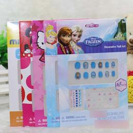 Wholesale Decals Nail Art Sticker - Cute Cartoon Baby Girls nail decal Frozen Princess Minnie Children nails stickers kit nail art Kids nail stickers 6467
