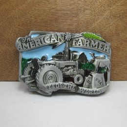 Wholesale Western Men Belts - BuckleHome fashion US farmer belt buckle western belt buckle jeans buckle with pewter plating FP-02483 free shipping