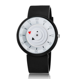 Wholesale Glass Table Watch - Wholesale Rotary table mens students lovers silicone watch rubber candy sport womens simple dress quartz for mens lovers
