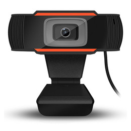 Wholesale Mega Wholesale China - A870C Webcam 720P HD Web Cameras Rotatable 1280*720 Computer Web Cam PC Camera with Mic Microphone for Android TV Box Laptop Netbook