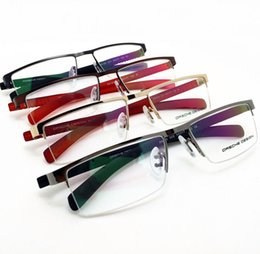 Wholesale Grade Spectacle Frame - Brand Glasses-NEW ARRIVING P design Big size high grade men business leisure rimless TR-90 glasses eyeglasses brand spectacle frame P8165