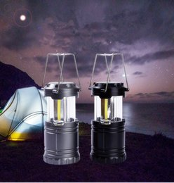 Wholesale Cob Technology - LED Camping Lanterns LED Portable retractable Camping light LED COB Technology Battery Powered Water Resistant Collapsible Lantern for Night