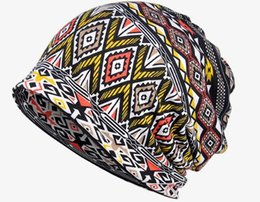 Wholesale Active Dual - 2017 Factory direct sales of cotton scarf hat fashion geometric pattern printed dual sleeve head cap spot wholesale