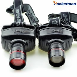 Wholesale Bicycle Headlight Zoom - led headlamp headlight flashlight High Power Waterproof Cree Zoom Lamps Camping Hunting Bike Bicycle Moving