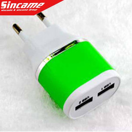 Wholesale Cell Phone Battery S3 - 2016 SC108 5V 2A 1A For Samsung S6 Plug cell Phone Portable Battery Charger For Galaxy S5 S4 S3 Note2 N7100