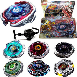 Wholesale Top Set Rapidity Beyblade Launchers - Wholesale- 1Set New Arrival Kids Fusion Top Rapidity Fight Metal Master Beyblade 4D Launcher Grip Set Collection Spinning Top Random