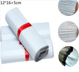 Wholesale Mailing Envelopes 12 - Wholesale- 20Pcs Lot White Self-seal Adhesive Courier bags Plastic Poly Envelope Mailer Postal Shipping Mailing Bags 12*16+5cm